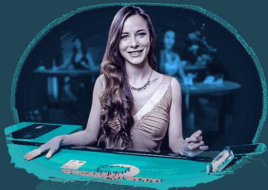 Dealer vid ett spelbord